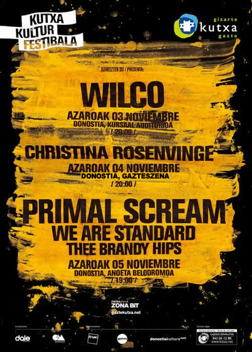 Primal Scream encabeza los tres días de Kutxa Kultur Festibala