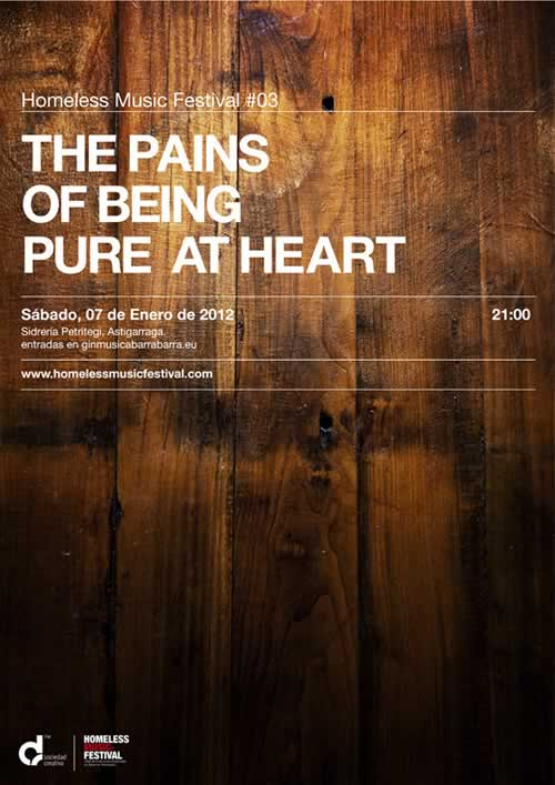 Homeless Music Festival #03 invitará a sidra a The Pains Of Being Pure At Heart