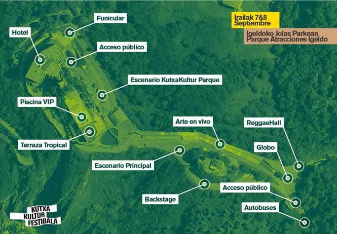 kutxa kultur festibala 2012 mapa