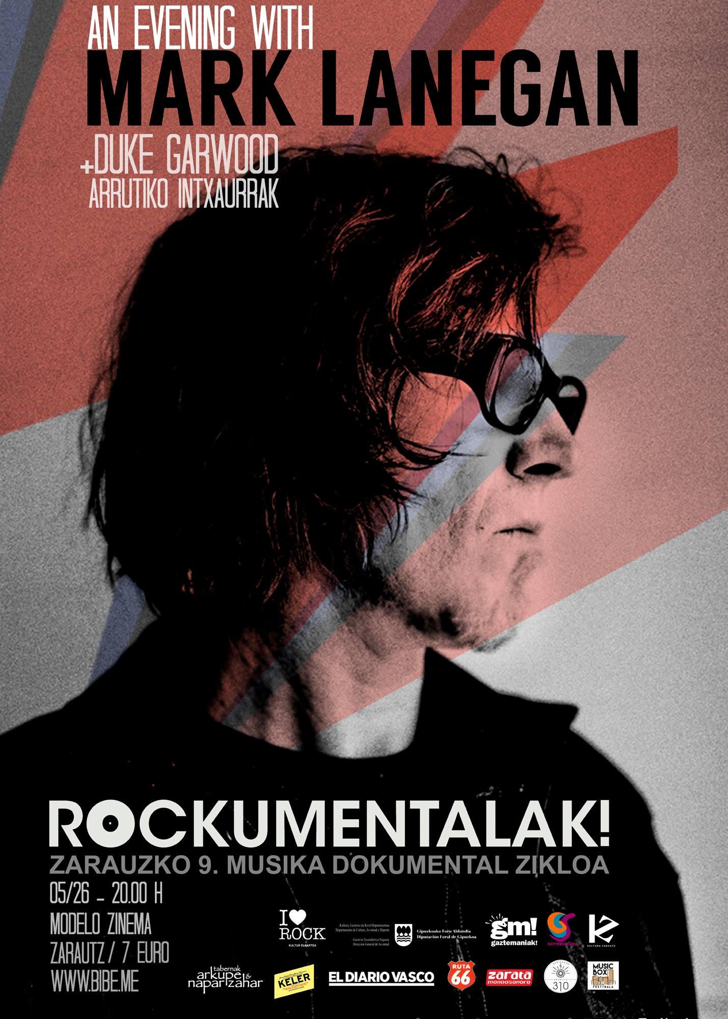 La voz inconfundible de Mark Lanegan abrirá Rockumentalak! 2016